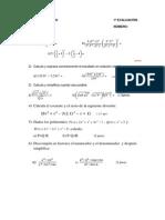 Matemáticas 3º Eso 1ª Evaluación