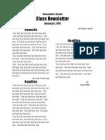 Newsletter Model