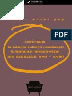 (Preview) 978-606-599-790-5 Pop Aurel - Contributii La Istoria Culturii Romanesti