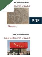 grade 10  public art project intro