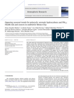 5. Opposing Seasonal Trends for Polycyclic Aromatic Hydrocarbons and PM10_Health Risk and Sources in Southwest Mexico City