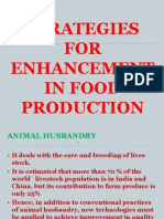 Strategies Forenhancement in Food Production