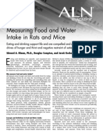Measuring Food and Water Intake- ALN
