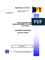 6.  PLAN QUINQUENNAL DE DEVELOPPEMENT DE L'AGRICULTURE AU TCHAD DOCUMENT PRINCIPAL