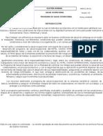 Programa de Salud Ocupacional 2009-2011