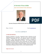 UT Dallas Syllabus for opre6302.pi1.07s taught by Larry Chasteen (chasteen)