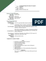 UT Dallas Syllabus for cs6363.002.07s taught by Sergey Bereg (sxb027100)