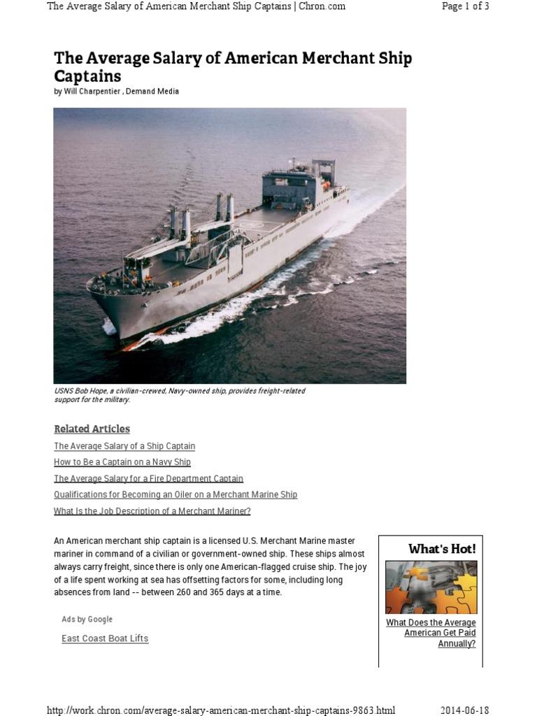 Marine merchant of salary a Marine Engineer