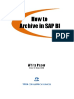 White Paper for Archiving in SAP BI - United Biscuits