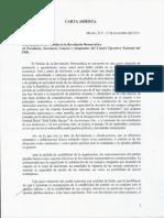CARTA de Cuauhtémoc Cárdenas