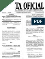 Gaceta Oficial Extraordinaria Nº 6.149