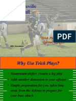 Trick Plays From the Spread Offense