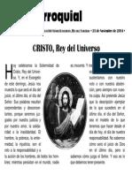 Hoja Parroquial 2014-11-23 No.47