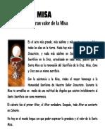 Explicación Del Gran Valor de La Santa Misa