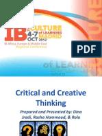 CriticalandCreativeThinking Final