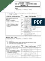 scheme of work - chemistry - week 1 -8