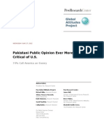 Pew Global Attitudes Project Pakistan Report