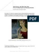A Diamond is Forever and Other Fairy Tales the Relationship Between Wedding Expenses and Marriage Duration SSRN-id2501480
