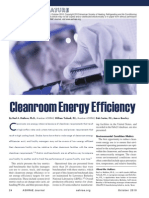 Cleanroom Energy Efficiency