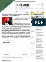 31-08-14 Trabajo legislativo no se mide en quien presente más propuestas_ Pedro Pablo Treviño