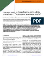 Avances sobre la fisiopatologia de la artritis reumatoide ¿Tiempo para una nueva teoría?