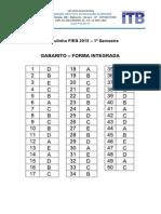 Gabarito Prova ITB 2014