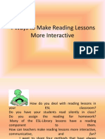 4 Ways to Make Reading Lessons More Interactive