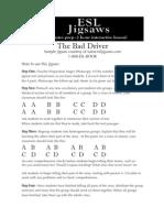 Jigsaw reading activity