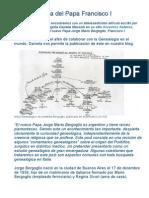 La Genealogía Del Papa Francisco I