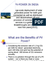 Solar Photovoltaic Power for India
