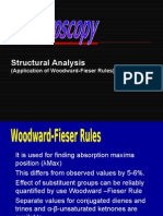 woodwardruleStructural Analysis  (Application of Woodward-Fieser Rules) of spectroscopy