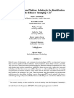 IConcepts and Methods Relating to the Identification of the Ethics of Emerging ICTs