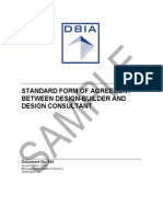 Standard Form of Agreement Between Design-builder and Design Consultant