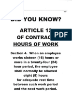 att Members - DID YOU KNOW - Art 12 Sec 4 Contract, Hours of Work
