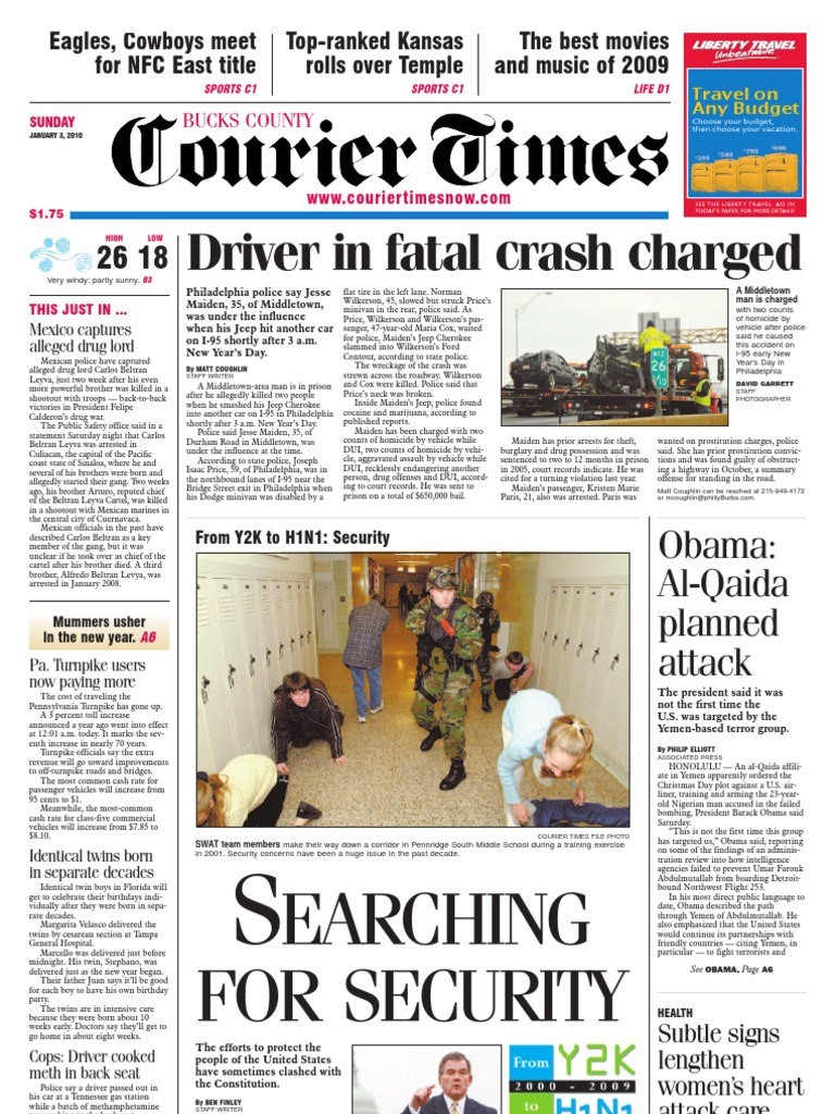 Bucks County Courier Times 01-03-2010 | Myocardial Infarction | Business
