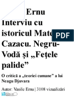 Matei Cazacu -Replica Data Lui Djuvara -