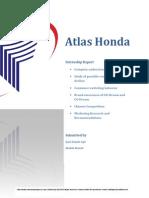 Atlas Honda-Internship Report 2014 by Qazi Zohaib Aqil