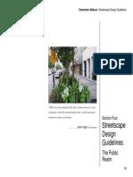 Downtown Streetscape Design Guidelines-public,Private