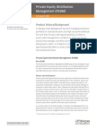 Private Equity Distribution Management Product Profile