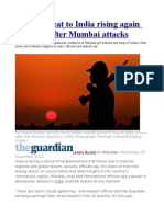Terror threat to India rising again six years after Mumbai attacks.odt