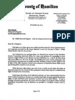 Court Letter re Sandy Kirkham Juror Questionnaires