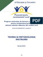 Tehnologia Si Metodologia Instruiri