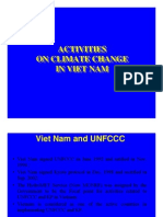 Activities Activities on Climate Change on Climate Change in Viet