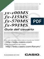 Manual Calculadora Casio fx100MS, 115MS, 570MS, 991MS Español
