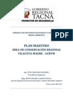 Plan Maestro Área de Conservación Regional Vilacota Maure