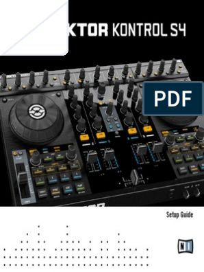 Traktor Kontrol S4 Setup Guide English   Installation