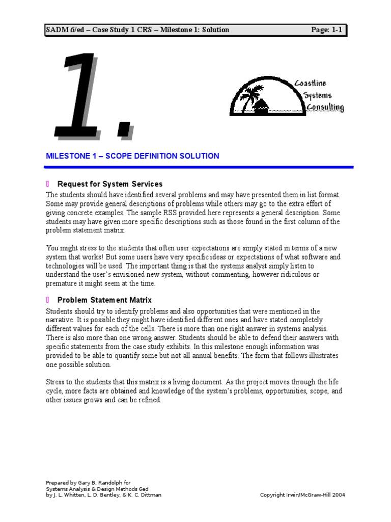case study problem statement