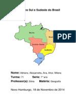 Regiões Sul e Sudeste Do Brasil