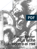 Becker Ernest - La Lucha Contra El Mal