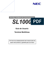 Manual de Usuario Telefono Multilinea SL1000